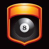 Eight ball orange display Royalty Free Stock Photo