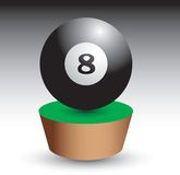 Eight ball on patch Royalty Free Stock Image