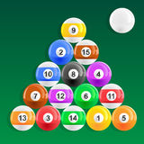 Eight Ball Pool Rack Royalty Free Stock Photo