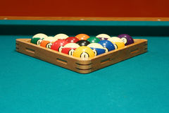 Eight ball rack Stock Photo