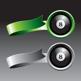 Eight ball on ribbons Stock Photography