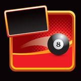 Eight ball on stylized banner Stock Images