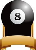 Eight ball trophy Royalty Free Stock Image