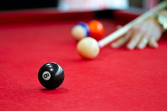 Eight balls billiards Royalty Free Stock Image