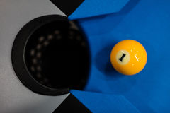 Eight balls billiards Stock Images