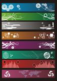 Eight banners. Eight different banners for websites Royalty Free Stock Image