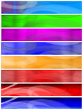 Eight Banners or Headers Set Stock Image