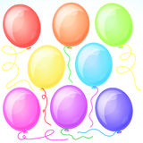 Eight Beautiful Party Balloons. Stock Photography