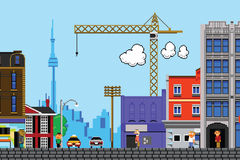 Eight Bit Toronto. Retro eight bit videogame view of the city of Toronto, Canada