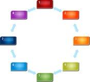 Eight Blank business diagram circular relationship illustrationk. Blank business strategy concept infographic diagram circular relationship interaction vector illustration