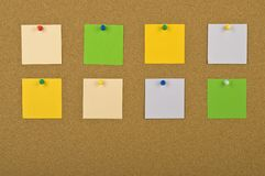 Eight Blank Notes Stock Photography