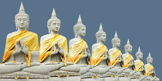Eight Buddha Royalty Free Stock Image