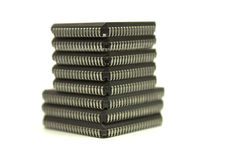 Eight chips isolated. Eight chips on the white background royalty free stock photo