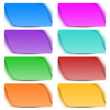 Eight colorful abstract banners Stock Photography