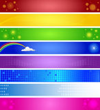 Eight Colorful Banners Stock Photography
