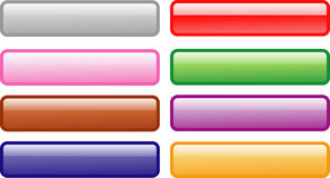 Eight colorful web buttons Royalty Free Stock Photo