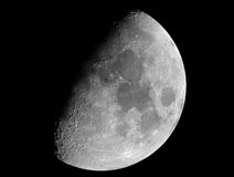 Eight-day-moon. An eight-day-old Moon, photographed on 2004-11-20 in its gibbous phase, photographed through a 0.2-metre telescope stock image