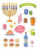 Eight days of Hanukkah Stock Photos