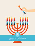 Eight days of Hanukkah Stock Image
