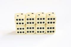 Eight dice Royalty Free Stock Photo