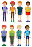 Eight faceless kids Royalty Free Stock Image