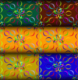 Eight flower pattern pack Stock Photo
