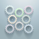 Eight Gears Decorative Background Royalty Free Stock Photos