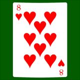 Eight hearts. Card suit icon vector, playing cards symbols vector vector illustration