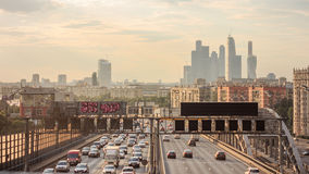 Eight-highway in Moscow, Russia Stock Images