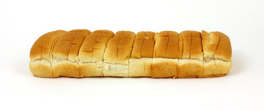 Eight Hot Dog Rolls Stock Photography