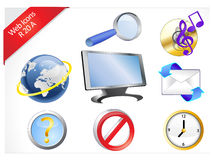 Eight Internet Icons R-series Royalty Free Stock Photo
