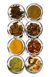 Eight Kind Of Spices Royalty Free Stock Photos