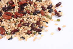 Eight kinds of grain Stock Images