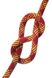 Eight knot on climbing rope Stock Photos