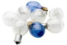 Eight light bulbs Stock Photos