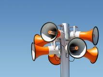 Eight loudspeaker Royalty Free Stock Photo