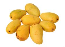 Eight mangoes Stock Photo