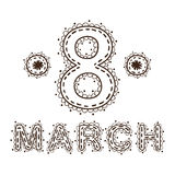 The eight 8 of march date. Stock Photography