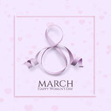 Eight March international womens day background. Royalty Free Stock Photography