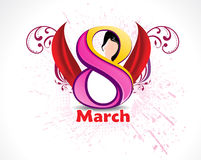 Eight March Woman's Day background Stock Images