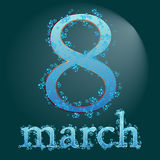 Eight march womans day two Royalty Free Stock Photo