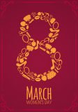 Eight 8 of March, Women Day background Stock Images