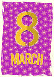 Eight 8 of March, Women Day background Royalty Free Stock Photo