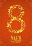 Eight 8 of March, Women Day background Royalty Free Stock Photos