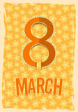 Eight 8 of March, Women's Day background Royalty Free Stock Images