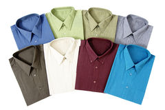 Eight Men's Shirts Royalty Free Stock Photos