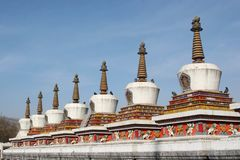 Eight Merits Stupas Royalty Free Stock Photo