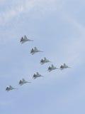 Eight multi-purpose heavy Su-30 Royalty Free Stock Images