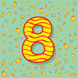 Eight number icon design Stock Photography