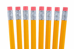 Eight Pencils Stock Images